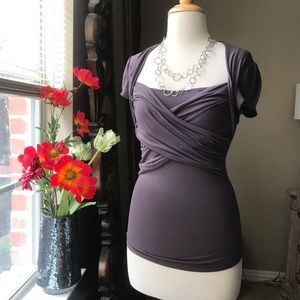 MODA International sexy back cutout top